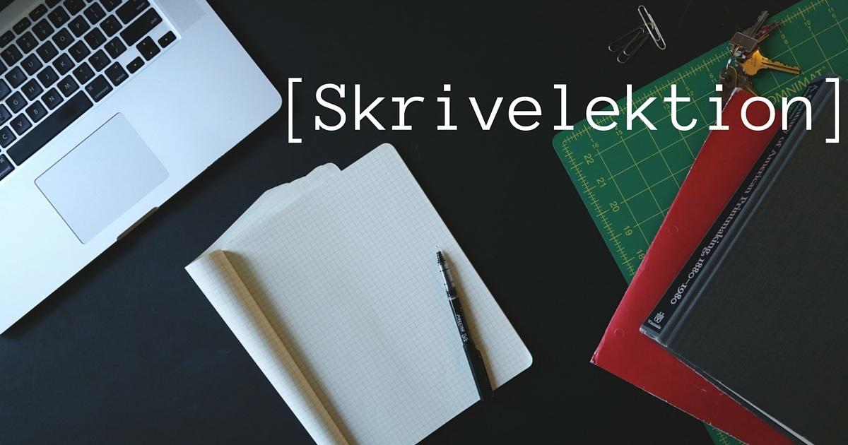 Skrivelektion