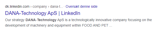 Linkedin sider dana technology google SERP